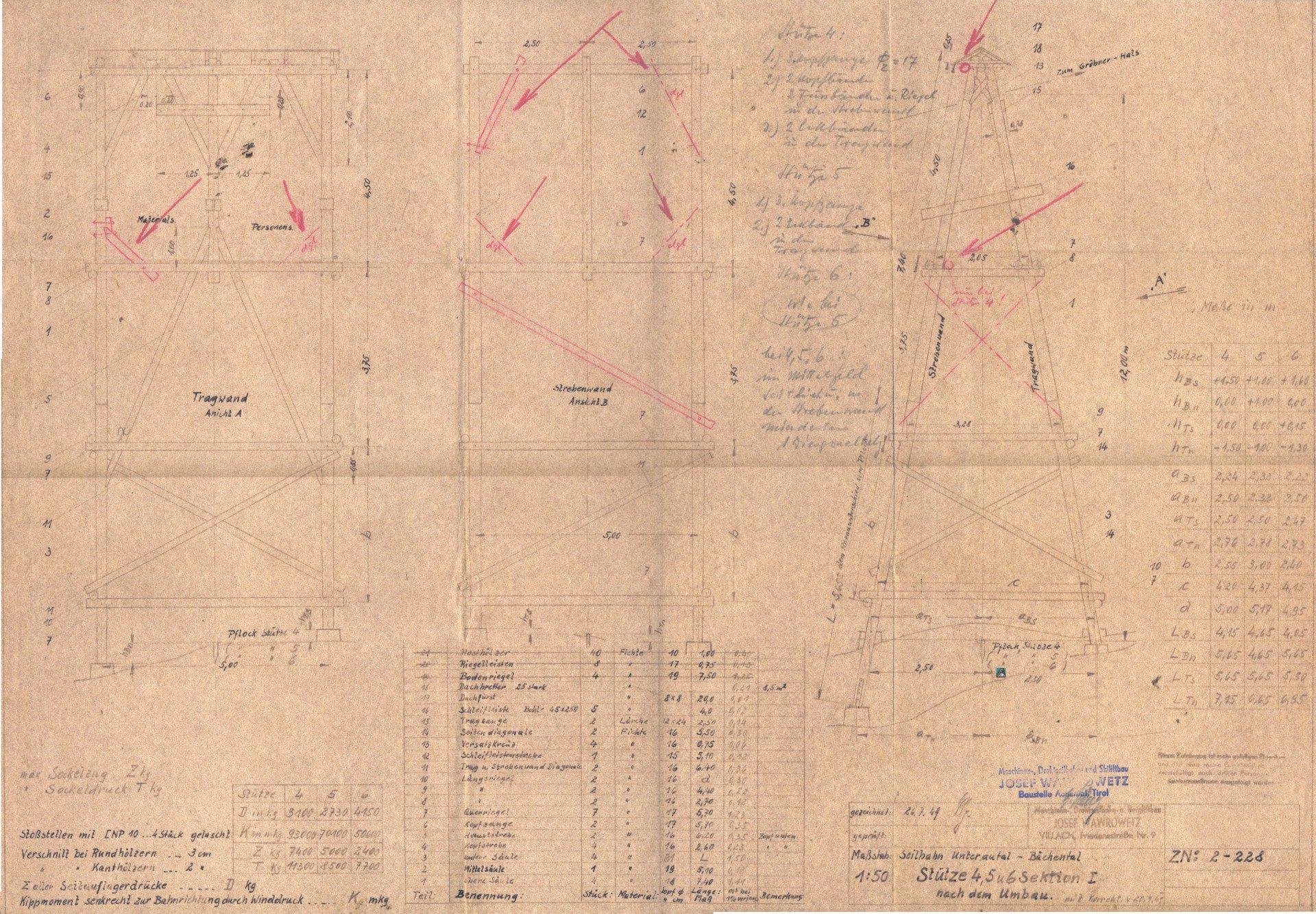 1949 07 26 Plan Seilbahnstütze Internet