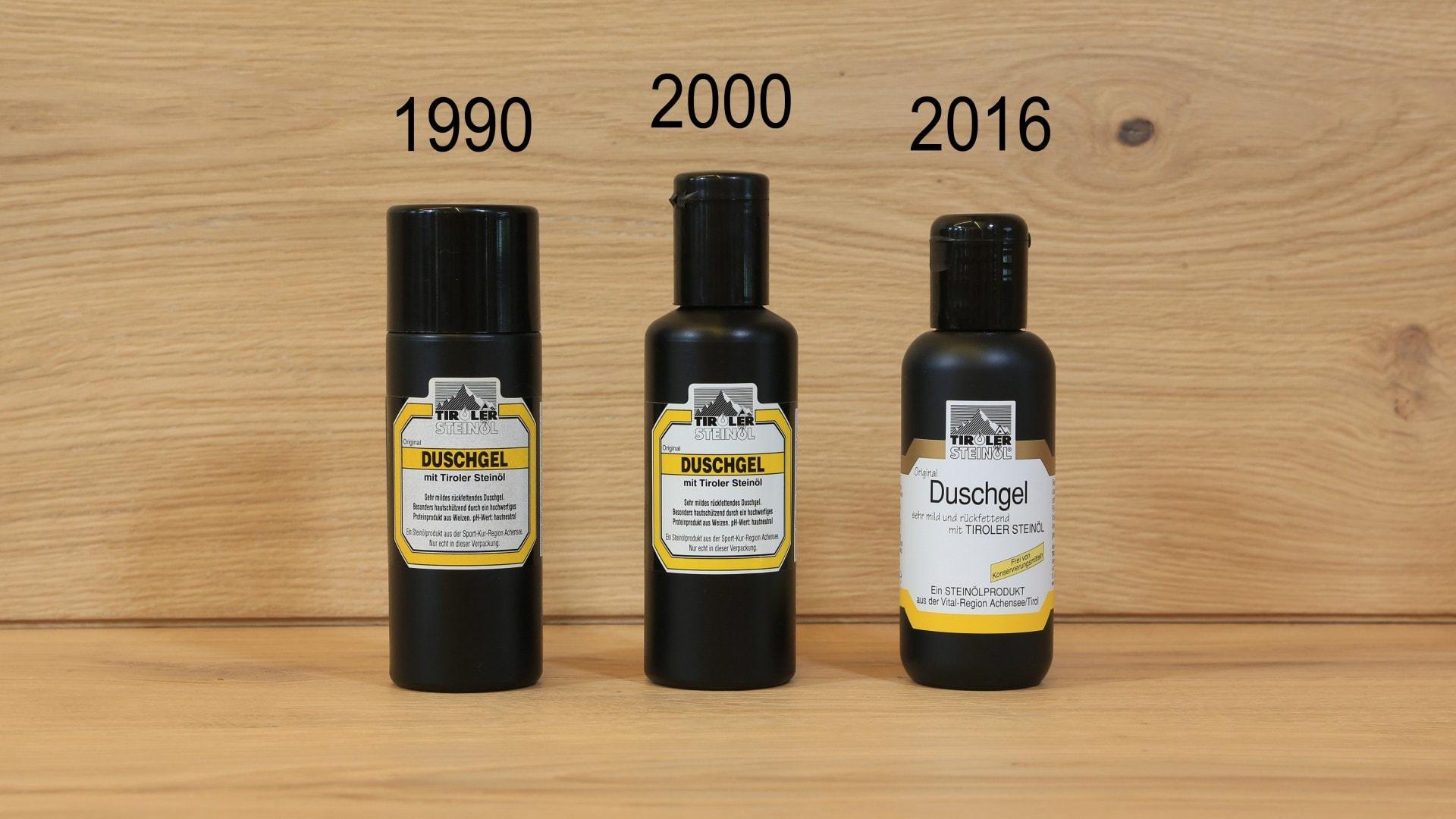 Duschgel 1990 bis 2016