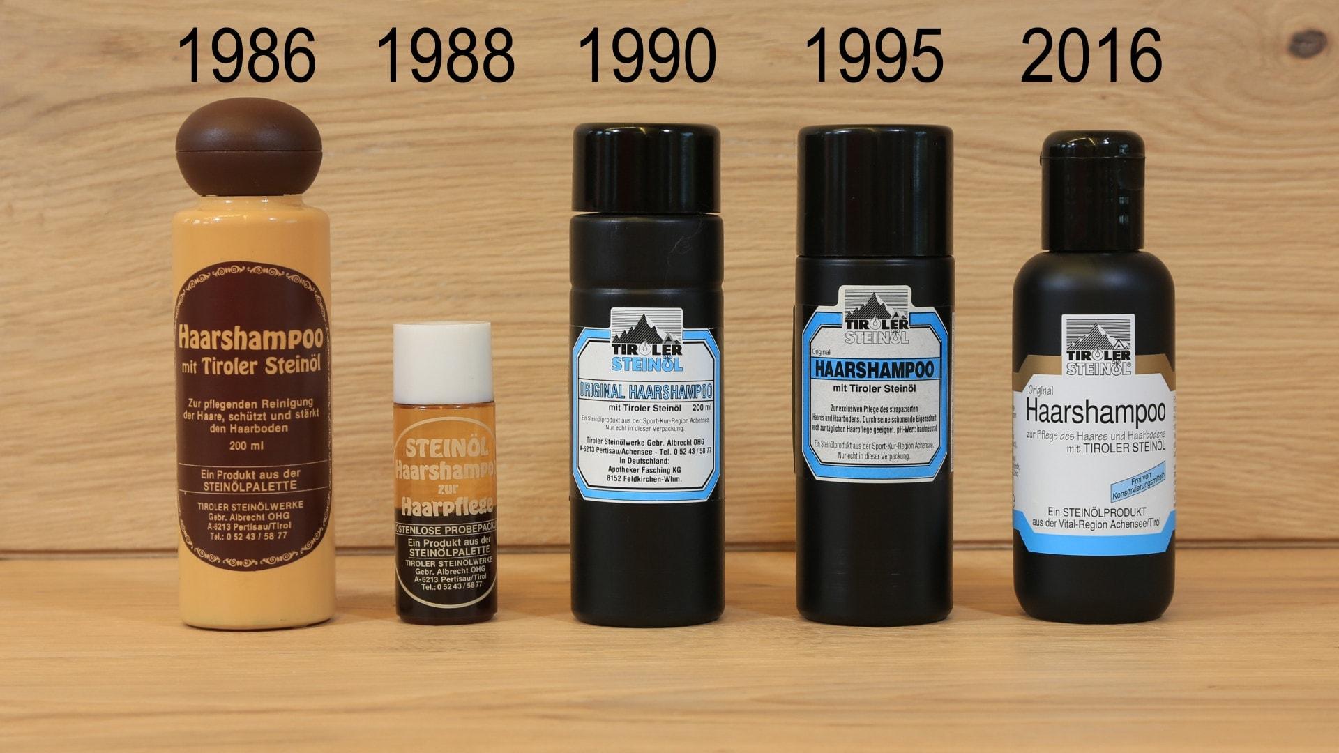 Haarshampoo 1986 bis 2016