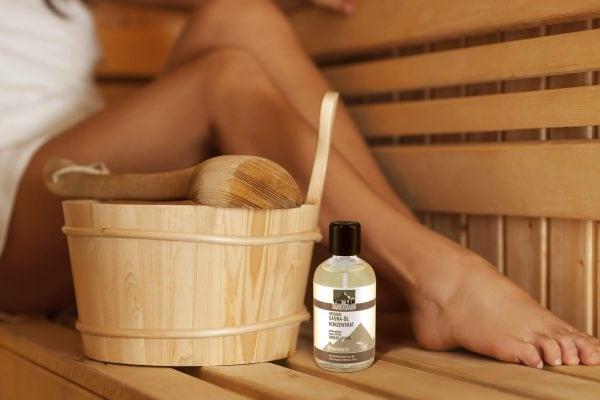 Saunaöl Rosmarin in der Sauna